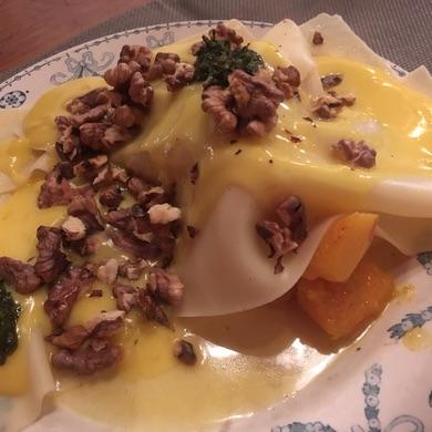 lasagna met pompoen